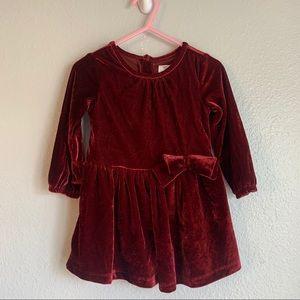 Just One You Carter's Velvet Burgundy Dress 12 M
